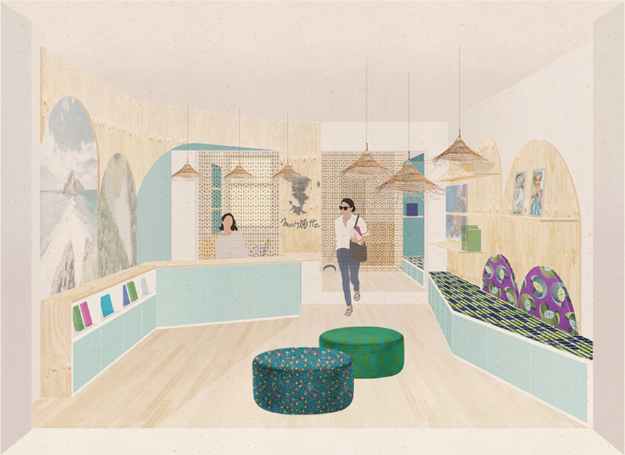 E09 M'SINDZANO – transformation d'une boutique en local d'accueil, Paris (75)
