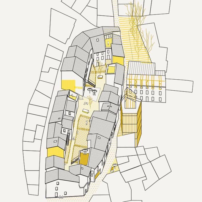 HC02 LA DÉFRICHEUSE – réaménagement du centre-bourg, Laure-Minervois (11)