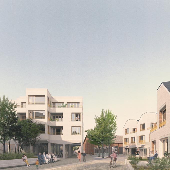 HC11 MÉMOIRES VIVES – construction de 37 logements adaptables, équipements et espaces publics, Lisieux (14), carsat Normandie