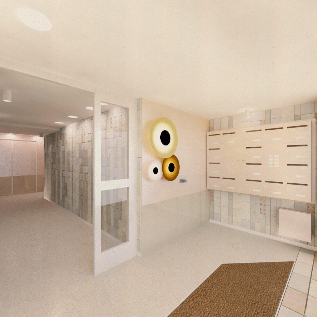 """HC12 BOULOGNE - rénovation de """" halls d'immeuble, Boulogne-Billancourt (92), 2020"""