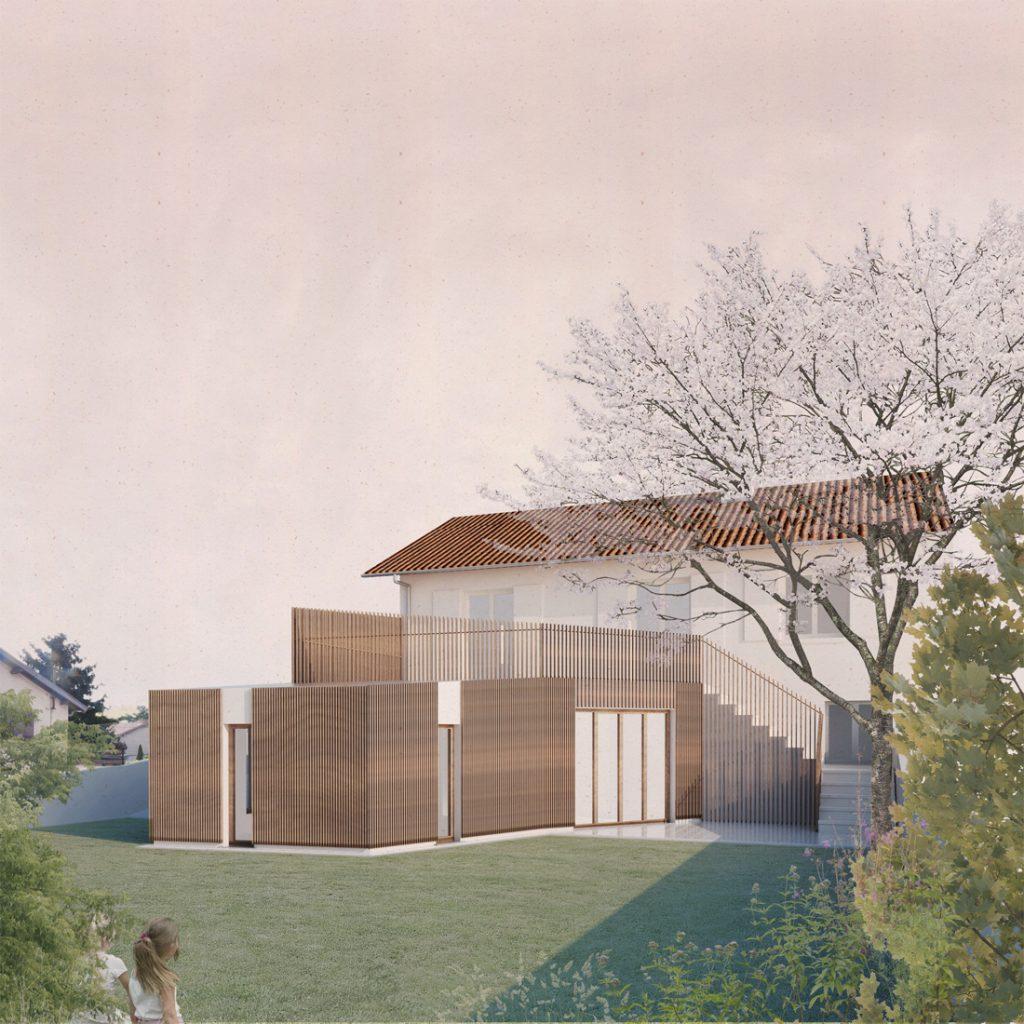 HI06 MAISON K – extension d'une maison de ville, Villeurbanne (69)